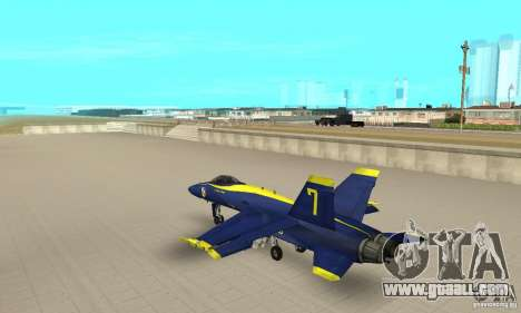 Blue Angels Mod (HQ) for GTA San Andreas back left view