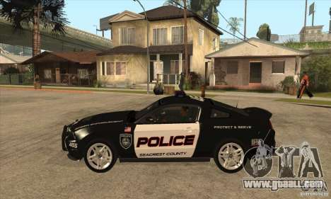 Shelby GT500 2010 Police for GTA San Andreas left view