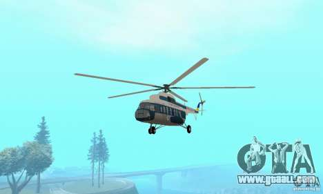 MI-17 civil (Ukrainian) for GTA San Andreas