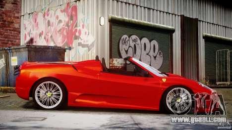 Ferrari F430 Scuderia Spider for GTA 4 side view