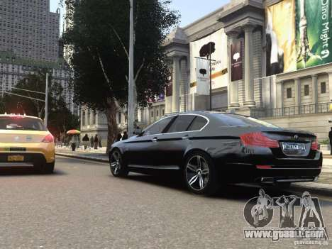 BMW 550i F10 for GTA 4 back left view