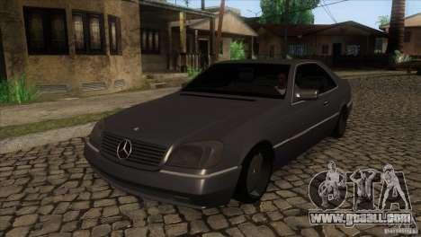 Mercedes Benz 600 Sec for GTA San Andreas
