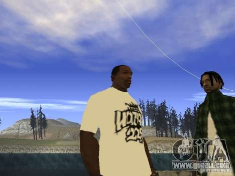 T-shirt NoGGano228 and AK 47 for GTA San Andreas second screenshot