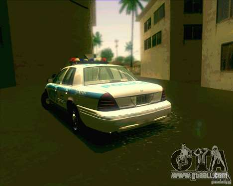 Ford Crown Victoria 2003 NYPD police V2.0 for GTA San Andreas back left view