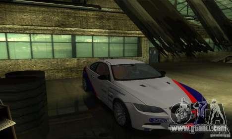 BMW M3 E92 for GTA San Andreas upper view