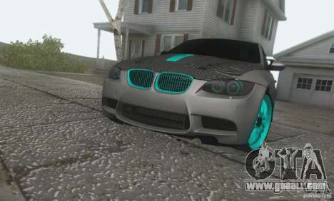 BMW M3 E92 Hellaflush v1.0 for GTA San Andreas back left view