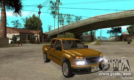GMC Canyon 2007 for GTA San Andreas back view