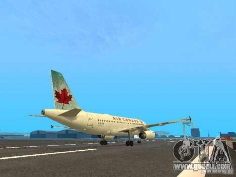 Airbus A319 Air Canada for GTA San Andreas right view