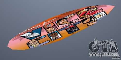 Surfboard 1 for GTA Vice City