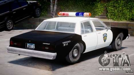 Chevrolet Impala Police 1983 [Final] for GTA 4 right view