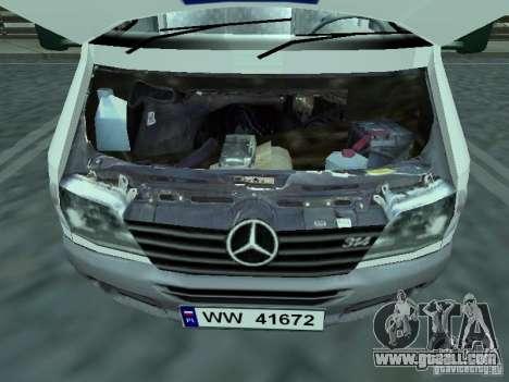 Mercedes-Benz Sprinter for GTA San Andreas right view