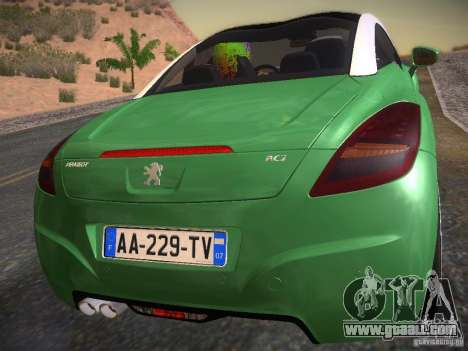 Peugeot RCZ 2010 for GTA San Andreas left view