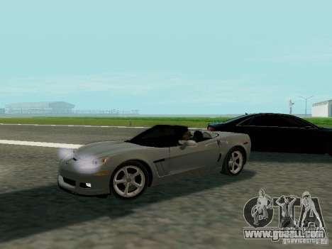 Chevrolet Corvette C6 GS Convertible 2012 for GTA San Andreas
