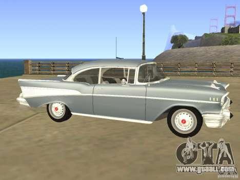 Chevrolet Bel Air 1957 for GTA San Andreas left view