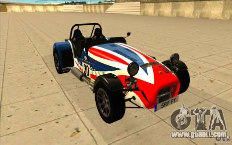 Caterham Superlight R500 for GTA San Andreas upper view