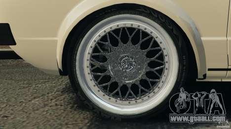 Volkswagen Golf Mk1 Stance for GTA 4 bottom view