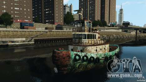 Realistic Rusty Tugboat for GTA 4