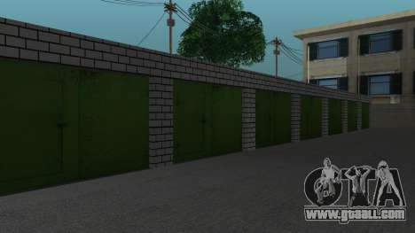 Structure of garages and buildings in SF for GTA San Andreas