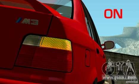 BMW M3 E36 for GTA San Andreas wheels