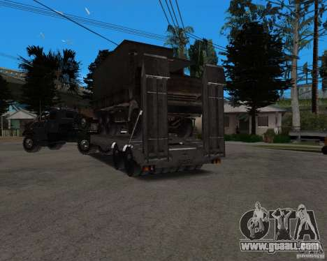 KrAZ 255 + trailer artict2 for GTA San Andreas side view