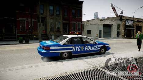 Chevrolet Caprice 1991 NYPD for GTA 4 left view