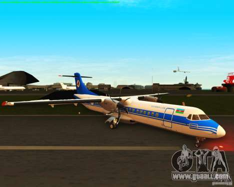 ATR 72-500 Azerbaijan Airlines for GTA San Andreas left view