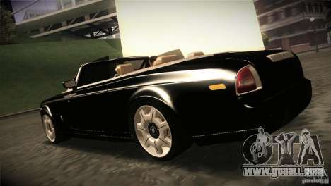 Rolls Royce Phantom Drophead Coupe 2007 V1.0 for GTA San Andreas back left view