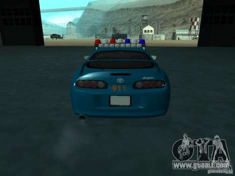 Toyota Supra California State Patrol for GTA San Andreas inner view