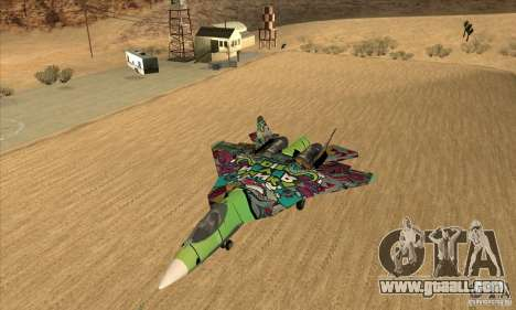 SU t-50 PAK FA Graffiti Skin for GTA San Andreas left view