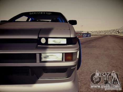 Toyota Corolla AE86 for GTA San Andreas inner view