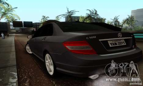 Mercedes-Benz C180 for GTA San Andreas back left view