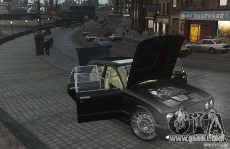 Bentley Arnage T v 2.0 for GTA 4 upper view
