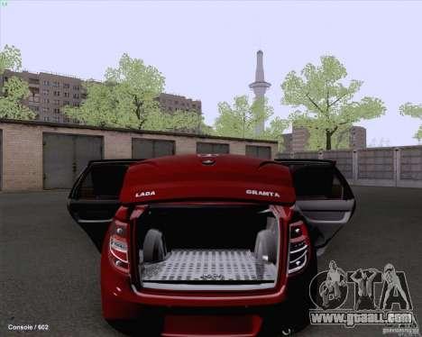 VAZ 2190 Drain for GTA San Andreas back view