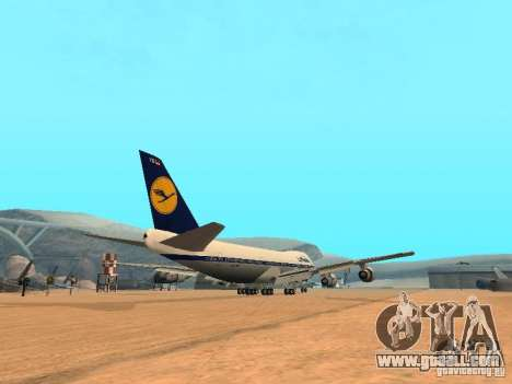 Boeing 747-100 Lufthansa for GTA San Andreas right view
