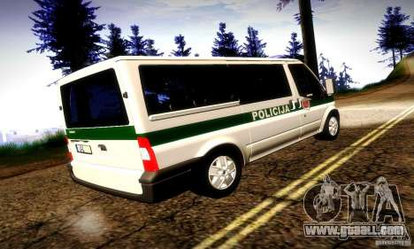 Ford Transit Policija for GTA San Andreas right view