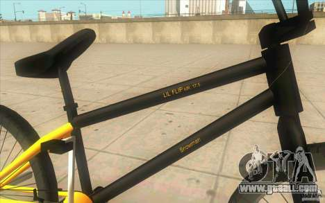 17.5 BMX for GTA San Andreas right view