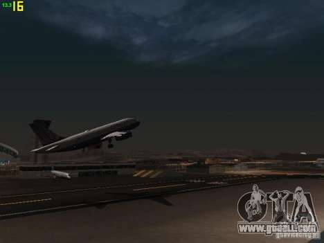 Airbus A319 USAirways for GTA San Andreas side view