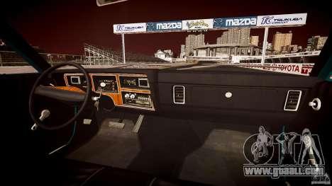Dodge Aspen v1.1 1979 yellow rear turn signals for GTA 4 bottom view