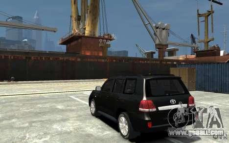 Toyota Land Cruiser 200 for GTA 4 back left view