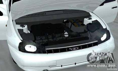 Lada Kalina Hatchback Stock for GTA San Andreas inner view