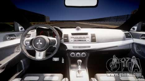 Mitsubishi Lancer Evolution X Tuning for GTA 4 right view