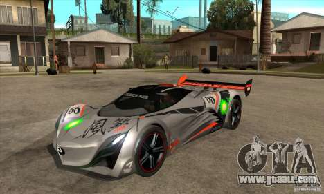 Mazda Furai V2 for GTA San Andreas left view