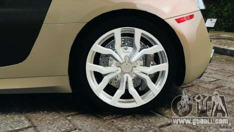 Audi R8 V10 2010 for GTA 4 upper view