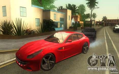 Ferrari FF for GTA San Andreas back left view