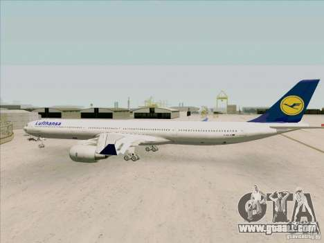 Airbus A-340-600 Lufthansa for GTA San Andreas right view