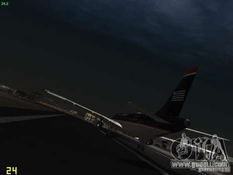 Airbus A319 USAirways for GTA San Andreas back left view