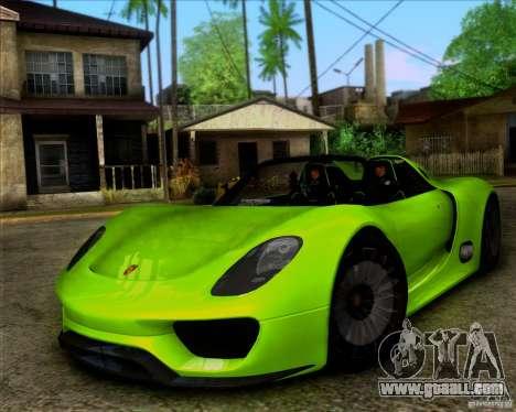Porsche 918 Spyder Concept Study for GTA San Andreas