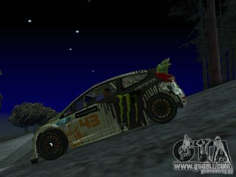 Ford Fiesta Ken Block WRC for GTA San Andreas back view