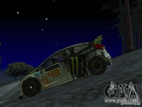 Ford Fiesta Ken Block WRC for GTA San Andreas back view