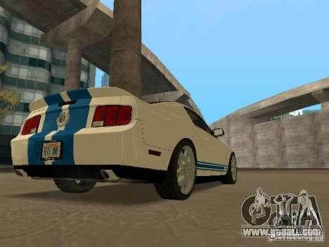 Ford Mustang GT for GTA San Andreas inner view